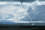 Waterspout on Lake Titicaca 1974
